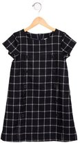 Jacadi Girls' Double-Breasted Plaid Dress