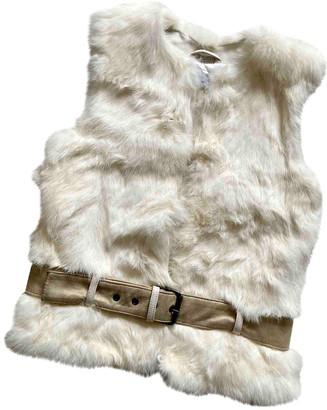 Christian Dior Beige Rabbit Jackets & Coats