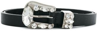B-Low the Belt Riley crystal buckle belt