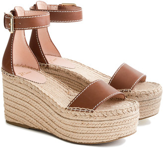 J.Crew Simple Marina Leather Wedge