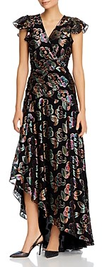 Shoshanna Medianoche Printed High/Low Gown