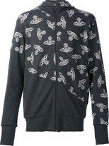 Vivienne Westwood logo print zip up cardigan