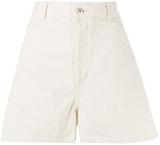 Jil Sander high-rise A-line denim shorts