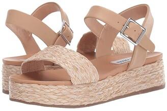 Steve Madden Accord Platform Sandals (Natural Raffia) Women's Shoes