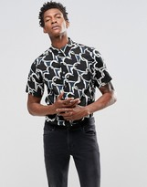 Paul Smith PS by Shirt With Heart Chain Print Tailored Slim Fit
