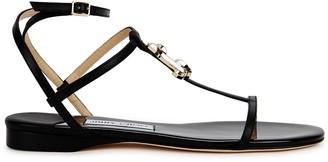 Jimmy Choo Alodie 25 Black Leather Sandals