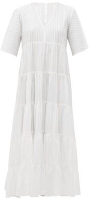 Merlette New York Sinharaja Striped Cotton Maxi Dress - Womens - White