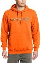 Carhartt Men's Signature Logo Hooded Midweight Sweatshirt