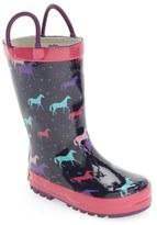 Western Chief Girl's 'Cute Horses' Rain Boot