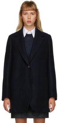 Thom Browne Navy 120s Wool Sack Jacket