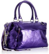 metallic purple leather 'Mini Morning After' bag