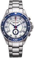 Silver & Blue Chronograph Watch