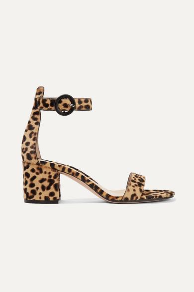 Gianvito Rossi Versilia 60 Leopard-print Calf Hair Sandals - Leopard print