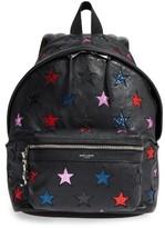 Saint Laurent Mini City California Star Leather Backpack - None