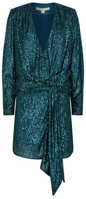 Jonathan Simkhai Sequin Embellished Draped Mini Dress