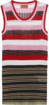 Missoni Metallic ribbed crochet-knit tank