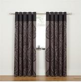 Laurence Llewellyn Bowen Damask Print Lined Eyelet Curtains