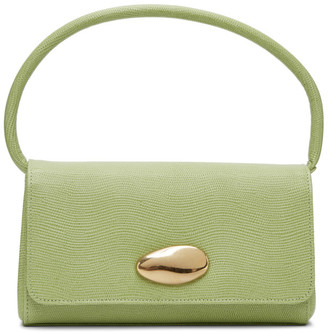 Little Liffner Green Lizard Mini Baguette Bag