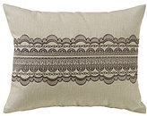 HiEnd Accents Charlotte Burlap Pillow