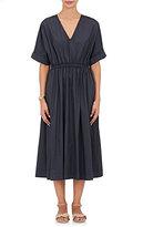 Sea Women's Washed Cotton Poplin Midi-Dress-NAVY