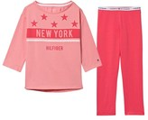Tommy Hilfiger Pink Branded and Star Print Pyjamas