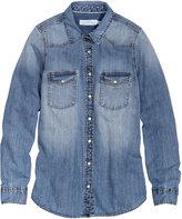 H&M - Denim Shirt - Denim blue - Ladies