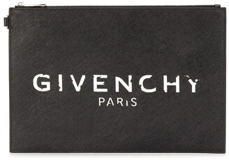 Givenchy Logo Zip Cluch