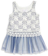 Iris & Ivy Girls 2-6x Drop Waist Lace Dress