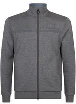 BOSS GREEN Grey Fleece Zip Up Jacket