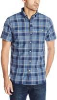 G.H. Bass Men's Short Sleeve Rock River Textured Large Plaid Shirt
