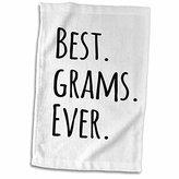 "3D Rose Best Grams Ever Grandmothers-Grandma Nicknames-Black Text-Family Gifts Towel, 15"" x 22"""