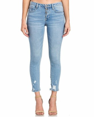 Miss Me Women's Mid-Rise Skinny Jeans with Buttonfly