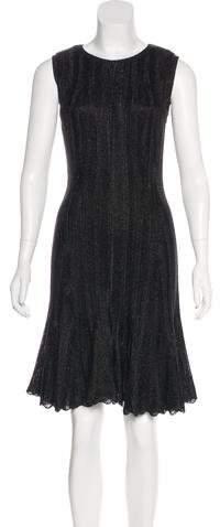 Alexander McQueen Metallic Knit Dress w/ Tags