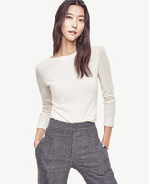 Ann Taylor Petite Wool Cashmere Boatneck Sweater