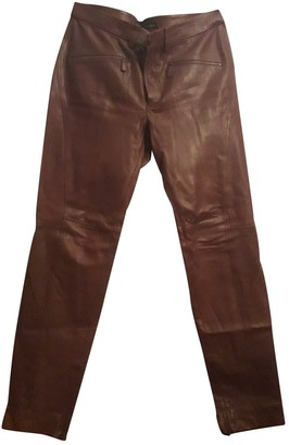Ralph Lauren Brown Leather Trousers