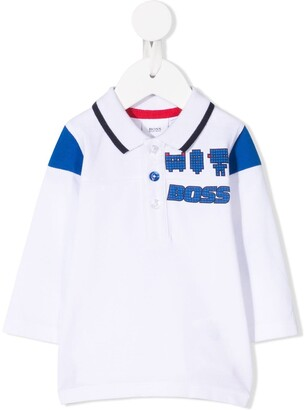 Boss Kidswear Pixel Print Polo Top