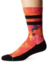 Stance Men's Gutter Tropical Surf Print Arch Support Classic Crew Sock