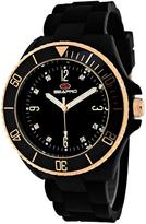 Seapro SP7412 Women's Sea Bubble Black Silicone Watch with Crystal Accents