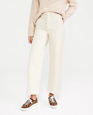 Ann Taylor Onseam Pocket High Waist Wide Leg Jeans