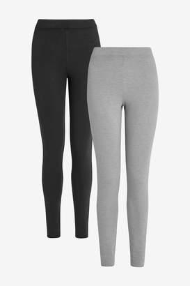 Next Womens Black/Grey Truetherm Leggings Two Pack - Black