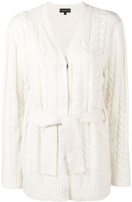 Cashmere Blend Cable Knit Cardigan