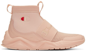 Champion Reverse Weave Pink Rally Sneakers