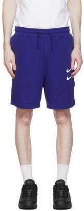 Nike Navy Sportswear Swoosh Shorts