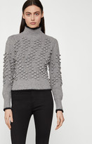BCBGMAXAZRIA Popcorn Stitch Turtleneck Sweater