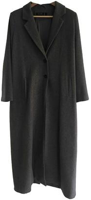 Religion Grey Wool Coat for Women