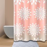 Bed Bath & Beyond Extra-Wide Medina Floral Shower Curtain in Coral/White