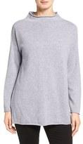 Eileen Fisher Women's Fine Gauge Cashmere Mock Neck Sweater