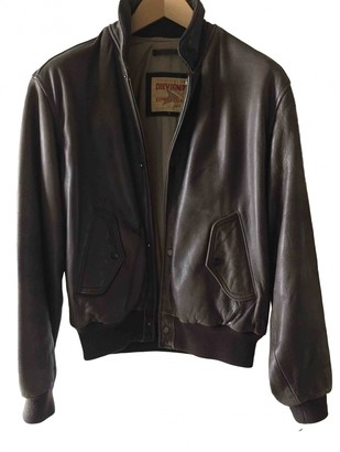 Chevignon Brown Leather Leather Jacket for Women