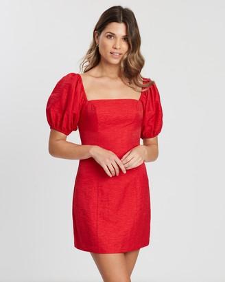 Atmos & Here Pia Puff Sleeve Mini Dress