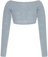 Isa Arfen Clochard Cropped Wool Sweater